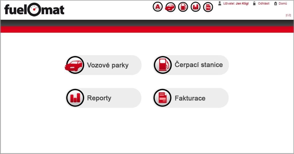 Pohodlná správa s FuelOmatem díky webové aplikaci.